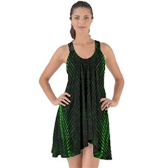 Green Foam Waves Polygon Animation Kaleida Motion Show Some Back Chiffon Dress