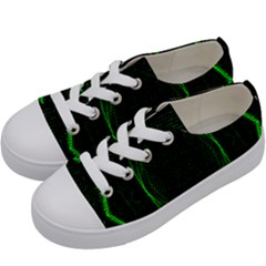 Green Foam Waves Polygon Animation Kaleida Motion Kids  Low Top Canvas Sneakers by Mariart