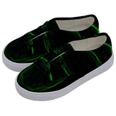 Green Foam Waves Polygon Animation Kaleida Motion Kids  Classic Low Top Sneakers by Mariart