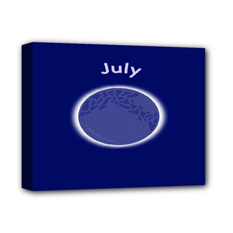 Moon July Blue Space Deluxe Canvas 14  X 11  by Mariart