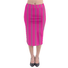 Pink Line Vertical Purple Yellow Fushia Midi Pencil Skirt by Mariart