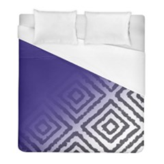 Plaid Blue White Duvet Cover (full/ Double Size) by Mariart