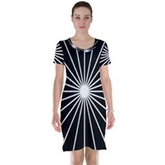 Ray White Black Line Space Short Sleeve Nightdress by Mariart