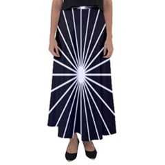 Ray White Black Line Space Flared Maxi Skirt