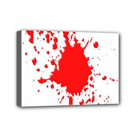 Red Blood Splatter Mini Canvas 7  X 5  by Mariart