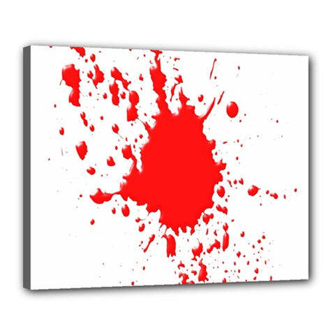 Red Blood Splatter Canvas 20  X 16  by Mariart