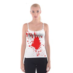 Red Blood Splatter Spaghetti Strap Top