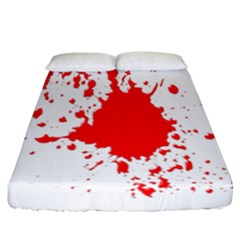 Red Blood Splatter Fitted Sheet (california King Size) by Mariart