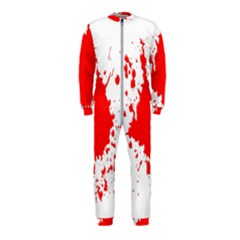 Red Blood Splatter Onepiece Jumpsuit (kids) by Mariart