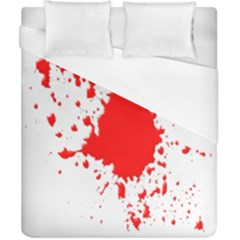 Red Blood Splatter Duvet Cover (california King Size) by Mariart