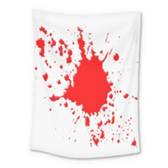 Red Blood Splatter Medium Tapestry by Mariart
