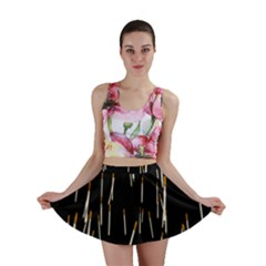Rain Cigarettes Transparent Background Motion Angle Mini Skirt by Mariart
