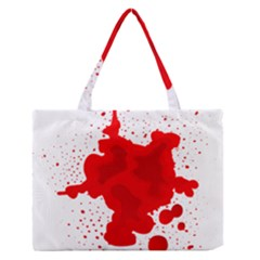 Red Blood Transparent Zipper Medium Tote Bag by Mariart