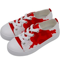 Red Blood Transparent Kids  Low Top Canvas Sneakers by Mariart