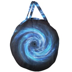 Hole Space Galaxy Star Planet Giant Round Zipper Tote by Mariart