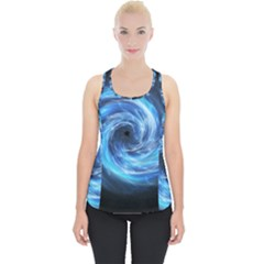 Hole Space Galaxy Star Planet Piece Up Tank Top