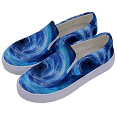 Hole Space Galaxy Star Planet Kids  Canvas Slip Ons by Mariart