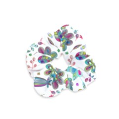 Prismatic Psychedelic Floral Heart Background Velvet Scrunchie by Mariart