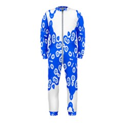 Snowflake Art Blue Cool Polka Dots Onepiece Jumpsuit (kids) by Mariart