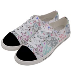 Prismatic Neon Floral Heart Love Valentine Flourish Rainbow Women s Low Top Canvas Sneakers by Mariart