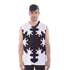 Snowflakes Black Men s Basketball Tank Top