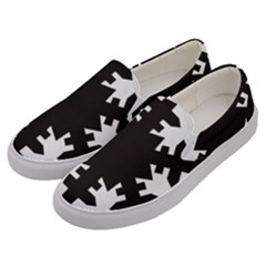 Snowflakes Black Men s Canvas Slip Ons by Mariart
