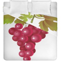 Red Fruit Grape Duvet Cover Double Side (king Size)