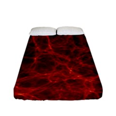 Simulation Red Water Waves Light Fitted Sheet (full/ Double Size) by Mariart