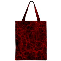 Simulation Red Water Waves Light Zipper Classic Tote Bag by Mariart