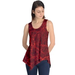 Simulation Red Water Waves Light Sleeveless Tunic by Mariart