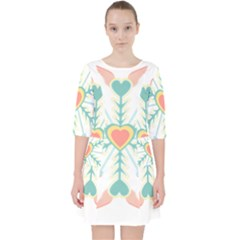 Snowflakes Heart Love Valentine Angle Pink Blue Sexy Pocket Dress by Mariart