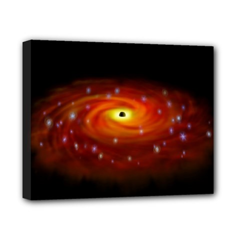 Space Galaxy Black Sun Canvas 10  X 8