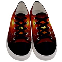 Space Galaxy Black Sun Men s Low Top Canvas Sneakers