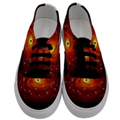 Space Galaxy Black Sun Men s Classic Low Top Sneakers