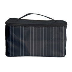 Space Line Grey Black Cosmetic Storage Case by Mariart
