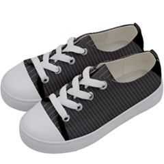 Space Line Grey Black Kids  Low Top Canvas Sneakers by Mariart