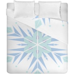 Snowflakes Star Blue Triangle Duvet Cover Double Side (california King Size) by Mariart