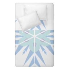 Snowflakes Star Blue Triangle Duvet Cover Double Side (single Size)