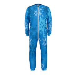 Snowflakes Cool Blue Star Onepiece Jumpsuit (kids) by Mariart