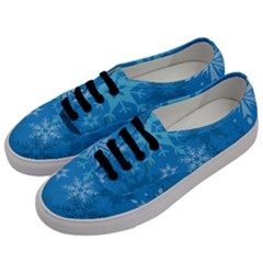 Snowflakes Cool Blue Star Men s Classic Low Top Sneakers by Mariart