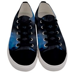 Space Star Blue Sky Men s Low Top Canvas Sneakers