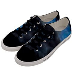Space Star Blue Sky Men s Low Top Canvas Sneakers by Mariart