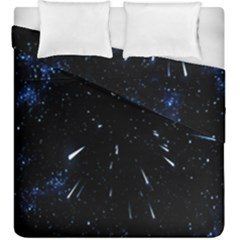 Space Warp Speed Hyperspace Through Starfield Nebula Space Star Line Light Hole Duvet Cover Double Side (king Size) by Mariart