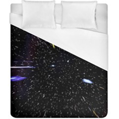 Space Warp Speed Hyperspace Through Starfield Nebula Space Star Hole Galaxy Duvet Cover (california King Size) by Mariart