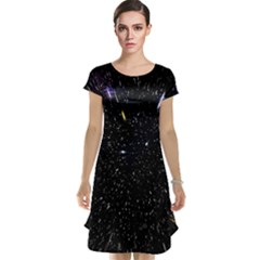 Space Warp Speed Hyperspace Through Starfield Nebula Space Star Hole Galaxy Cap Sleeve Nightdress by Mariart