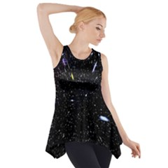 Space Warp Speed Hyperspace Through Starfield Nebula Space Star Hole Galaxy Side Drop Tank Tunic