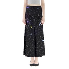 Space Warp Speed Hyperspace Through Starfield Nebula Space Star Hole Galaxy Full Length Maxi Skirt by Mariart