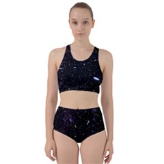 Space Warp Speed Hyperspace Through Starfield Nebula Space Star Hole Galaxy Racer Back Bikini Set by Mariart
