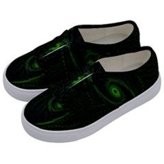 Space Green Hypnotizing Tunnel Animation Hole Polka Green Kids  Classic Low Top Sneakers by Mariart