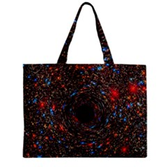 Space Star Light Black Hole Zipper Mini Tote Bag by Mariart
